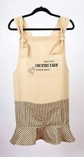 Kitchen Apron Primitive Country Farm Black Ticking Cotton Material  One Size New