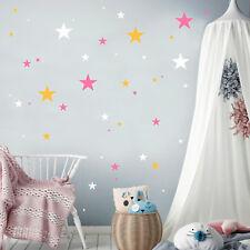 Pegatina Pared Decoración Estrellas (75teilig) ESTRELLA BLANCO 3 Colores Niña