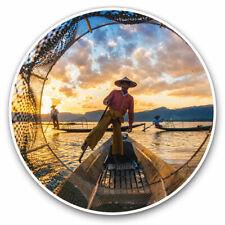 2 x Vinyl Stickers 7.5cm - Inle Lake Myanmar Burma Asia Cool Gift #3385