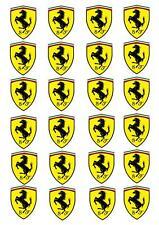 24 Ferrari STAND UP Cupcake Cake Topper Edible Rice Paper Decorations