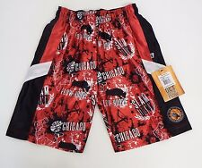 Youth Small  Chicago Hoops Mesh Athletic Shorts Red Flow Society
