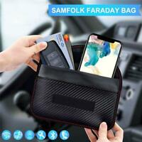 Car Key Large Faraday Bag Keyless RFID Signal Blocking Cell Phone Wallet Pouch G