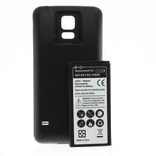 Power Akku Batterie 6500mah Cover schwarz für Samsung Galaxy S5 SM-G900F