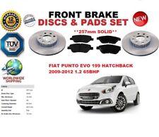 para Fiat Punto Evo 1.2 HB 2009-2012 257mm Discos freno Delantero Set +