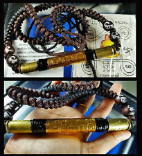 Thai Amulet Takrut Girded Maha Ut with Code Maha Solot Mongkhon Lp Kee B.E 2548