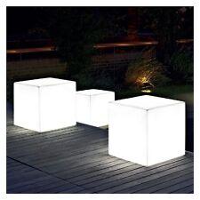 SGABELLO TAVOLINO LAMPADA DA GIARDINO KUBE LIGHT 50 X 50 X 50 DESIGN EURO3PLAST