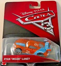 "DISNEY PIXAR CARS 3 2017 #21 BLINKR RYAN ""INSIDE"" LANEY 1/50 SCALE CAR NEW! RARE"