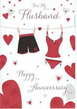 Various To My Husband on Our Wedding Anniversary Cards - NEW