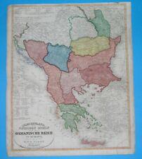 1845 XXL RARE ORIGINAL MAP SERBIA HUNGARY TRANSYLVANIA BULGARIA ROMANIA GREECE