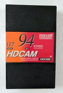 Maxell B-94HDL HDCAMVideocassette, Large -94 Minutes Recording Time