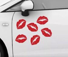 LIPS KISS LIPSTICK KISS STAMPS VINYL DECAL DIECUT STICKERS 6X CAR WALL GLASS