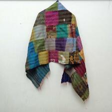 Silk Kantha Scarf Neck Wrap Stole patchwork Hand Quilted Women Stitched Kt97