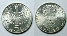 ALEMANIA REPÚBLICA FEDERAL.  5 MARK 1975 G. ALBERT SCHWEITZER.     SC -