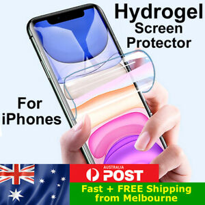 HYDROGEL Screen Protector for iPhone 6s Plus 7 8 X XS XR 11 12 Pro Max Mini
