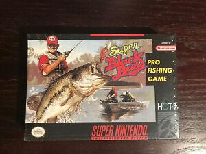 RARE NEW Factory Sealed Super Black Bass (Super Nintendo, 1992) Fishing SNES