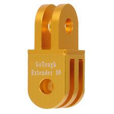 GoTough 20mm Gold 90° Extender for GoPro 2 Prong Mount - Aluminum 90° Extension