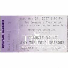 FRANKIE VALLI AND THE FOUR SEASONS Concert Ticket Stub 10/24/07 MORRISTOWN NJ