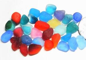 30 XS Multi & Colour Brights Mix inc UV JQ RARE Genuine Seaham English Sea Glass