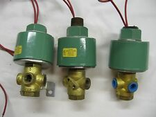 Lot of Three - ASCO 8320A24 -  Solenoid Valve 120/110 - 1/4 in. - Used
