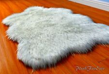 Extreme Plush Black Tip Polar Bear Sheepskin Flokati Area Rugs Faux Fur Accent