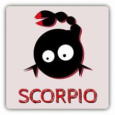 """Scorpio Zodiac Sign Cartoon Car Bumper Sticker Decal 5"""" x 5"""""""