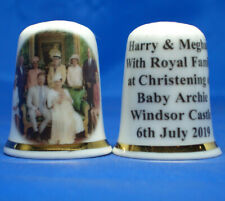 Birchcroft Thimble - Harry & Meghan with Royal Family at Christening - Free Box