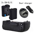 Meike Vertical Battery Grip Nikon D7100 D7200 as MB-D15, 2* EN-EL15 Dual charger