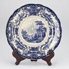 NEW antique style porcelain decorative plate vintage Blue white Willow edwardian