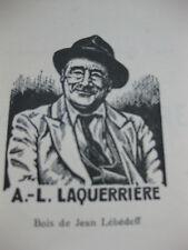 1958 Laquerrière bouquiniste des quais Paris Lanoizelée bois Lébédeff biographie