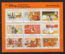 "Grenada Grenadines Stamps 1988 Walt Disney's "" The Aristocrats"" sheet of 9v MNH"