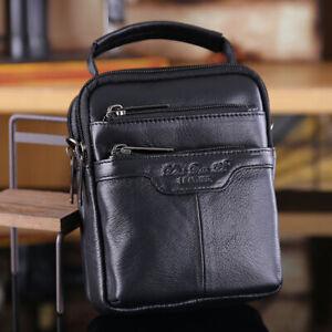 Men Genuine Leather Messenger Shoulder Hand Bag Belt Hip Fanny Waist Pack Pouch