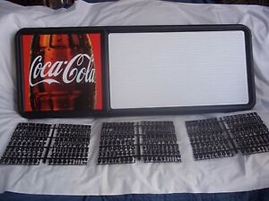 New! 3ft Coca-Cola Menu Board Sign w/3 sets of Coke Letters,Numbers & Symbols!