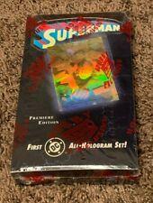 Superman  1996  Hologram  Cards  Sealed Box