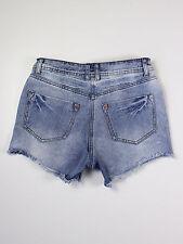 Soulcal womens Size 10 xs cut off blue denim shorts hot pants