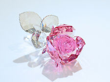 Swarovski Blossoming Rose Light Pink Flower Valentine 5094612 Brand New In Box