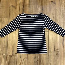 LL Bean womens XS petite Nautical Sweater Crew neck 100% Cotton 3/4 sleeve