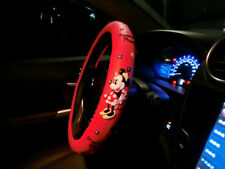New Red MicKey Mouse Steering Wheel Cover Car Interior Accessories Styling Girls