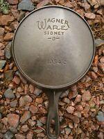 Vintage Fully Restored Wagner Ware # 4 Cast Iron Skillet 1054 C Flat