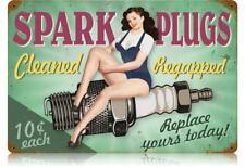 Spark Plugs Pin-Up Metal Sign