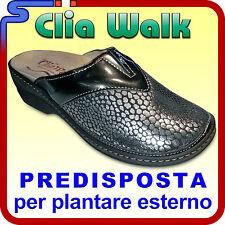 PANTOFOLA INVERNALE EALSTICIZZATA CLIA WALK COLORE PIOMBO PANTOFOLE PREDISPOSTA