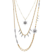 Chloe and Isabel Starburst Three-Row Convertible Necklace - N480SGCL - New -