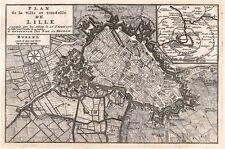 Antique map, Plan de la Ville et Citadelle de Lille