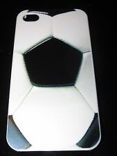 Soccer Hard Cover Case for iPhone 4 4s Soccer / football Pattern Case B & W