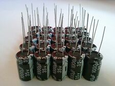25PCS 1000UF 1000mfd 35V Electrolytic Capacitor 105 degrees USA FREE SHIPPING