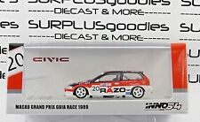 INNO64 1:64 HONDA CIVIC EF3 #20 RAZO Trampio Macau Grand Prix Guia Race 1989