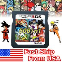 HOT 500 in 1 Video Game Card For Nintendo NDS DS NDSL NDSi 2DS 3DS US STOCK