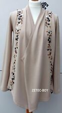 Storybook Knits Beaded Edge to Edge Cardigan Size Small Colour Beige