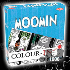 NEW SEALED Tactic MOOMINS COLOUR-IN 1000 Piece Jigsaw Puzzle Colouring