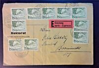 Switzerland 1955 Express Cover (Center Folded)
