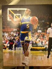 """Tim Hardaway Signed 8""""x10"""" photograph Golden State Warriors IN PERSON W/COA"""